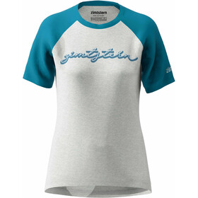 Zimtstern Sweetz Tee Women glacier grey melange/blue steel